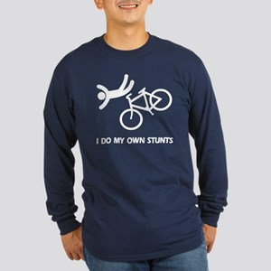 Bike, bike, funny biker stunt Long Sleeve Dark T-S